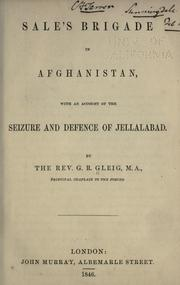 Cover of: Sale's brigade in Afghanistan