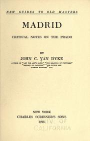 Cover of: Madrid: critical notes on the Prado