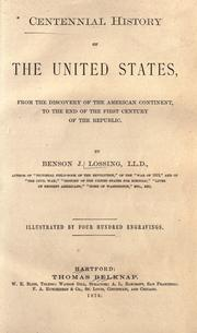 Cover of: Centennial history of the United States