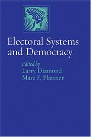 Cover of: Electoral systems and democracy by