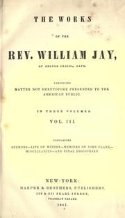 Cover of: The works of the Rev. William Jay