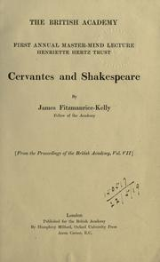 Cover of: Cervantes and Shakespeare