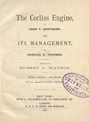 The Corliss engine by John T. Henthorn