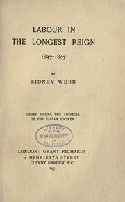 Cover of: Labour in the longest reign, 1837-1897