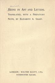 Cover of: Heine in art and letters