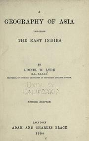 Cover of: A geography of Asia including the East Indies