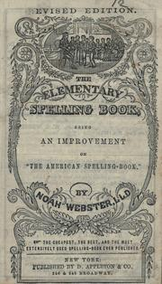 "Cover of: The elementary spelling book: being an improvement on ""The American spelling book"""