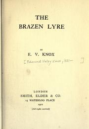 Cover of: The brazen lyre