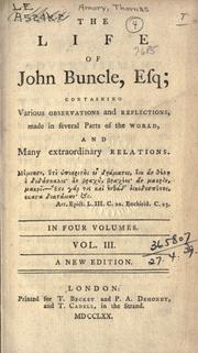 Cover of: The life of John Buncle, esq