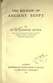 Cover of: The religion of ancient Egypt