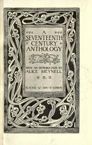 Cover of: Seventeenth century anthology |