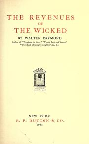 Cover of: The revenues of the wicked