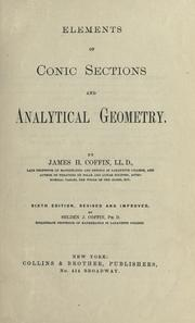Cover of: Elements of conic sections and analytical geometry