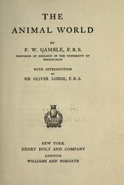Cover of: The animal world