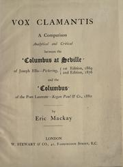 Cover of: Vox clamantis | Eric Mackay