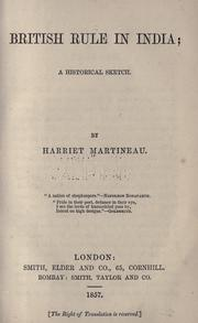 Cover of: British rule in India