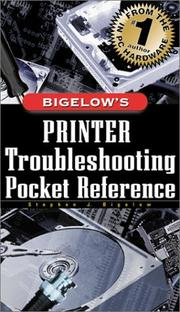 Cover of: Printer Troubleshooting Pocket Reference