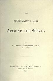 Cover of: From Independence Hall around the world