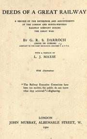 Cover of: Deeds of a great railway by G. R. S. Darroch