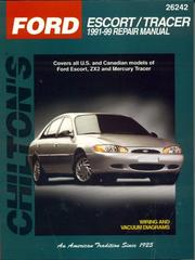 chilton s ford escort tracer 1991 99 repair manual 1998 edition rh openlibrary org