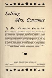 Cover of: Selling Mrs. Consumer by