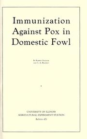 Cover of: Immunization against pox in domestic fowl