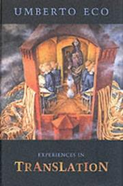Cover of: Experiences in translation