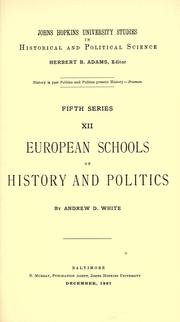 Cover of: European schools of history and politics