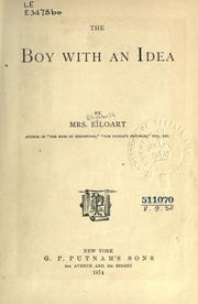 Cover of: The boy with an idea | Elizabeth Eiloart