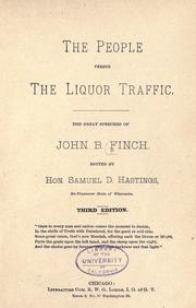 The people versus the liquor traffic by John B. Finch
