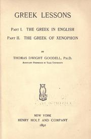 Cover of: Greek lessons