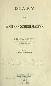 Cover of: Diary of a western schoolmaster