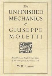 Cover of: The unfinished mechanics of Giuseppe Moletti