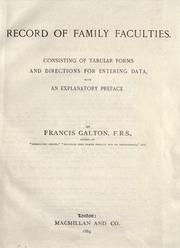 Cover of: Record of family faculties