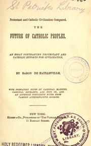 Cover of: Protestant and Catholic civilization compared by