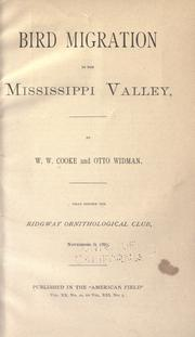 Cover of: Bird migration in the Mississippi Valley
