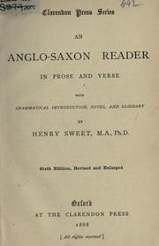 Cover of: An Anglo-Saxon reader in prose and verse, with grammatical introd., notes, and glossary