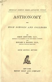Cover of: Astronomy for high schools and colleges