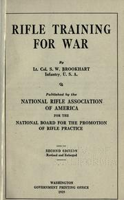 Cover of: Rifle training for war