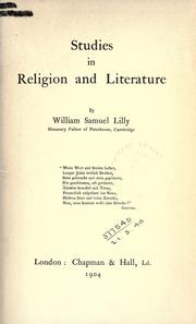 Studies in religion and literature by William Samuel Lilly