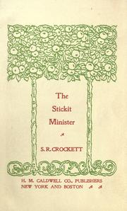 Cover of: The stickit minister: and some common men