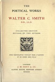 Cover of: Poetical works | Walter Chalmers Smith