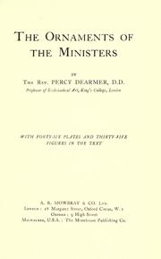 Cover of: The Ornaments of the inisters