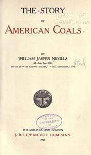 The story of American coals by William Jasper Nicolls