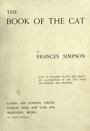 Cover of: The book of the cat | Simpson, Frances Miss.
