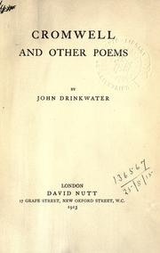 Cover of: Cromwell and other poems