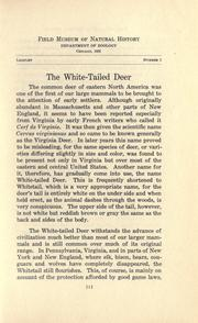 The white-tailed deer by Wilfred Hudson Osgood