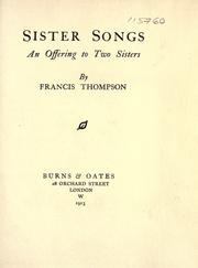 Cover of: Sister songs