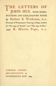 Cover of: Letters, with introductions and explanatory notes by Herbert B. Workman and R. Martin Pope