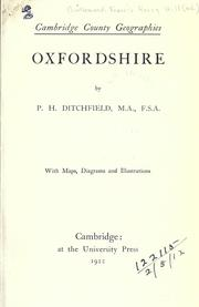 Cover of: Oxfordshire
